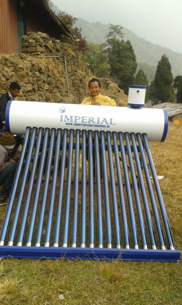 2000 ltr Solar Water Heater Installation  at BSF Camp, Wakka, Arunachal Pradesh