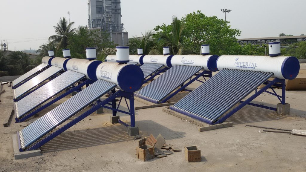 2000 ltr Solar Water Heater Installation at Graphite India Ltd. Durgapur