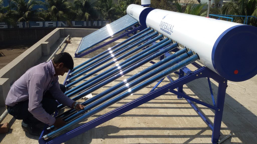 Installation of Tubes in Solar Water Heater