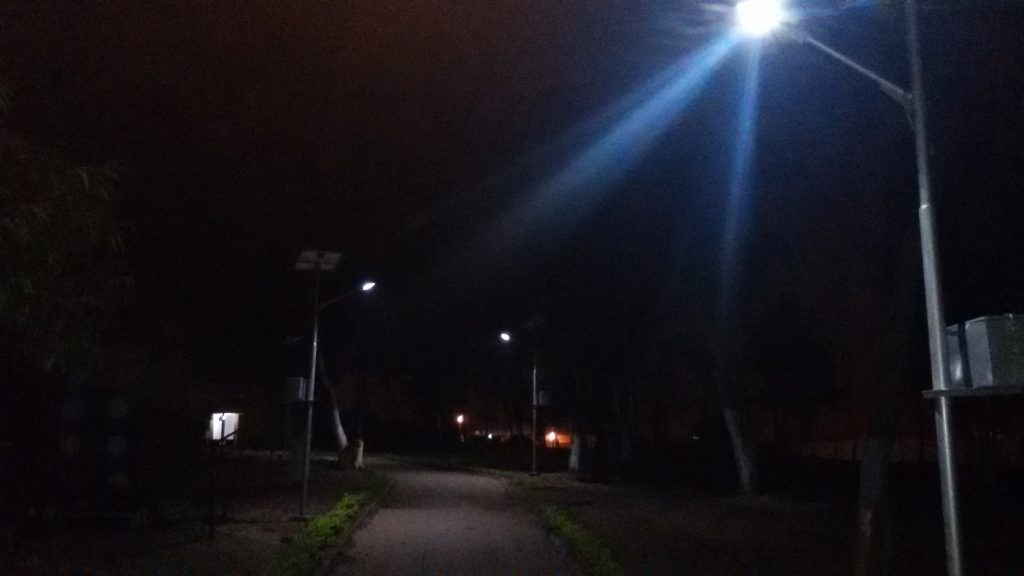 Solar Street Lights Installation at South 24 Parganas Wet Bengal